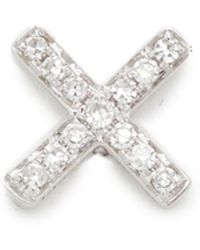 EF Collection - Diamond X Single Stud Earring - Lyst