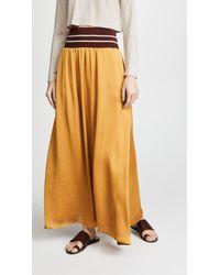 Scotch & Soda - Maxi Skirt With Elastic Waist - Lyst