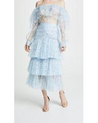 Rodarte - Tiered Lace Skirt - Lyst