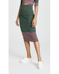 Jourden - Ribbed Skirt - Lyst