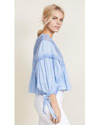 Free People - Drive You Mad V-neck Knit Blouse - Lyst