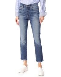 7 For All Mankind - Edie High Waist Jeans - Lyst