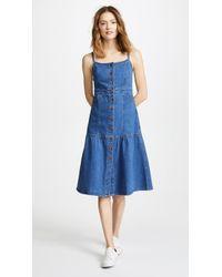 Madewell - Denim Bayview Tiered Midi Dress - Lyst