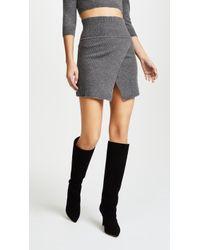 ThePerfext - Cross Front Miniskirt - Lyst