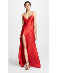 Michelle Mason - Strappy Wrap Gown - Lyst