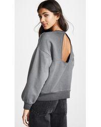 Hudson Jeans - Triangle Back Sweatshirt - Lyst