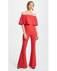 Black Halo - Hadid Two Piece Jumpsuit - Lyst