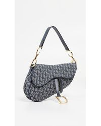 What Goes Around Comes Around Dior Navy Canvas Saddle Bag - Blue