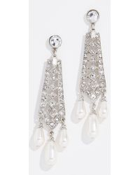 Ben-Amun - Crystal And Imitation Pearl Drop Earrings - Lyst