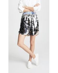 ANOUKI - Sparkly Silver Shorts - Lyst