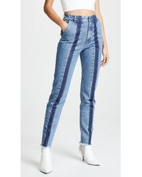 Ksenia Schnaider - Slim Jeans With Front Stripes - Lyst