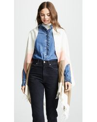 Madewell - Placed Stripe Cape Scarf - Lyst