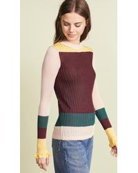 Scotch & Soda - Rib Knit Color Blocked Pullover - Lyst