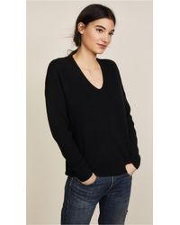 Vince - Raglan Ribbed Double V Neck - Lyst