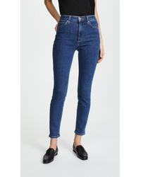 Joe's Jeans - The Bella Super High Rise Skinny Ankle Jeans - Lyst