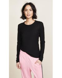 James Perse - Long Sleeve Slub Crew Tee - Lyst