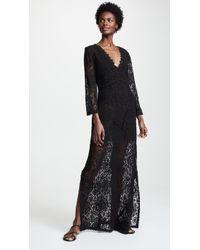 Temptation Positano - Rennel Long Sleeve Crochet Dress - Lyst