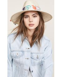 Kate Spade - Caning Long Brim Fedora Hat - Lyst