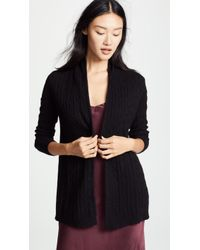 White + Warren - Cable Cashmere Cardigan - Lyst