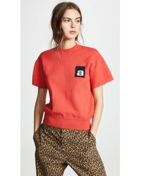 Alexander Wang - Mesh Tee With Logo Flag - Lyst