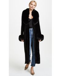 ThePerfext | Velvet And Fur Coat | Lyst