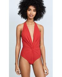 Karla Colletto - Low Back Plunge Swimsuit - Lyst