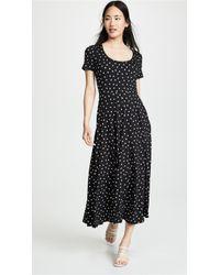 Three Dots - Painted Dot Jersey Dress - Lyst