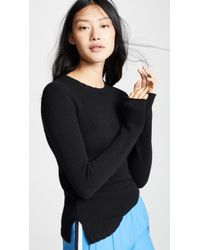 James Perse - Crew Neck Cashmere Sweater - Lyst