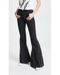 Faith Connexion - Zip Flare Jeans - Lyst