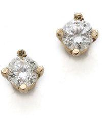 Gabriela Artigas - White Diamond Stud Earrings - Lyst