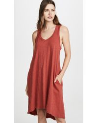 Wilt High Low Tank Dress - Red