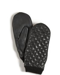 Agnelle - Quilted Leather Mittens - Lyst