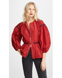 Giambattista Valli - Puff Sleeve Zip Jacket - Lyst