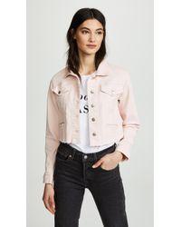 Joe's Jeans - Cropped Denim Jacket - Lyst