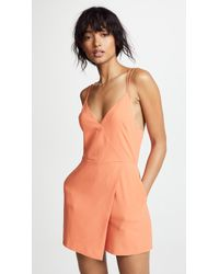 Alice + Olivia - Emery Fitted Romper - Lyst