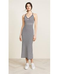 Courreges - Long Striped Metallic Dress - Lyst