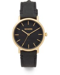 Nixon - The Porter Leather Watch, 35mm - Lyst