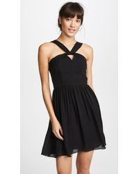 L'Agence - Valetta Keyhole Dress - Lyst