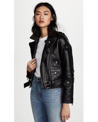 Sandy Liang - Petals Delancey Leather Jacket - Lyst