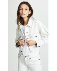 Marc Jacobs - Oversized Cropped Denim Jacket - Lyst