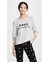 Wildfox - Dogs Are People Too Sweatshirt - Lyst