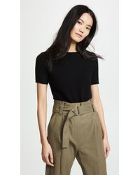 Theory - Cashmere Tolleree Short Sleeve Sweater - Lyst