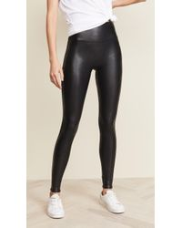 Spanx - Petite Faux Leather Leggings - Lyst
