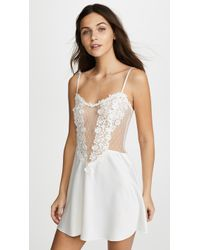 Flora Nikrooz - Charmeuse Chemise With Lace - Lyst