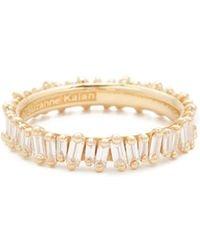 Suzanne Kalan - 18k Gold Diamond Baguette Ring - Lyst