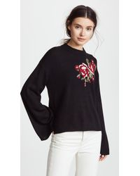 Cupcakes And Cashmere - Pullover With Rose Design - Lyst