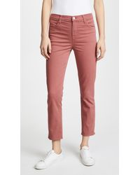 J Brand - Ruby High Rise Crop Jeans - Lyst