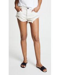One Teaspoon - Worn White Bandit Shorts - Lyst