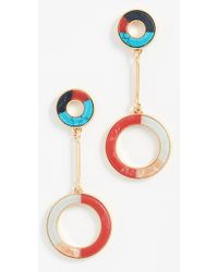 Madewell - Inlay Circle Earrings - Lyst