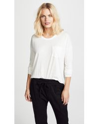 James Perse - Long Sleeve Pocket Tee - Lyst